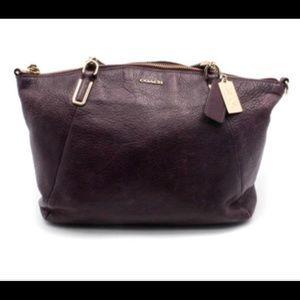 Coach Kelsey Plumb pebbles leather bag